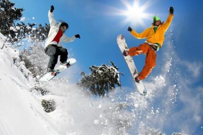 Snowboarden am Jenner in Königssee